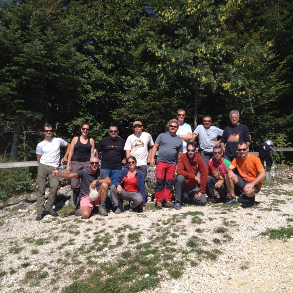 Vol d'équipe de club de rentree ce samedi 8 septembre sur le massif de l'Epine